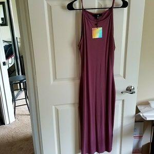Misguided Mauve Midi dress NWT US size 8
